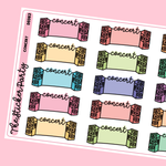 Concert Planner Stickers Music Festival Stickers