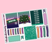 Welcome Winter One-Page Planner Sticker Kit