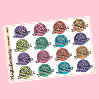 Trivia Night Planner Stickers
