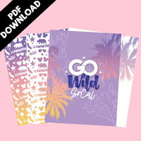 DIGITAL 8x11 Go Wild Papers | Go Wild 2020 Planaheim GW 2021