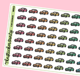 Car Planner Stickers | Car Maintenance Insurance Payments