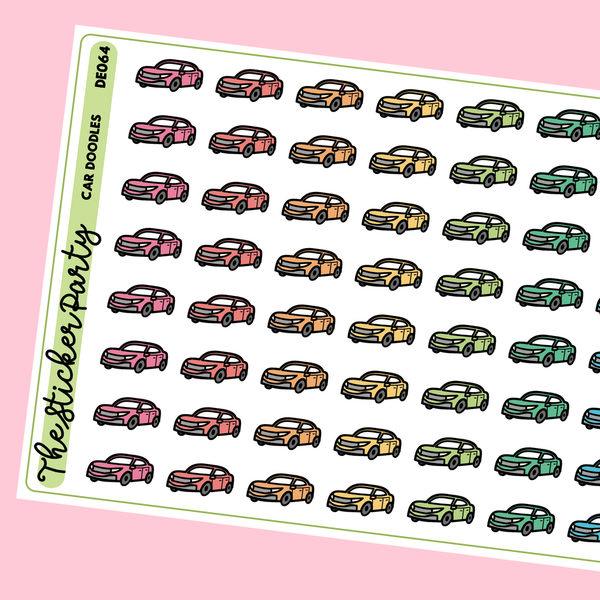Car Planner Stickers