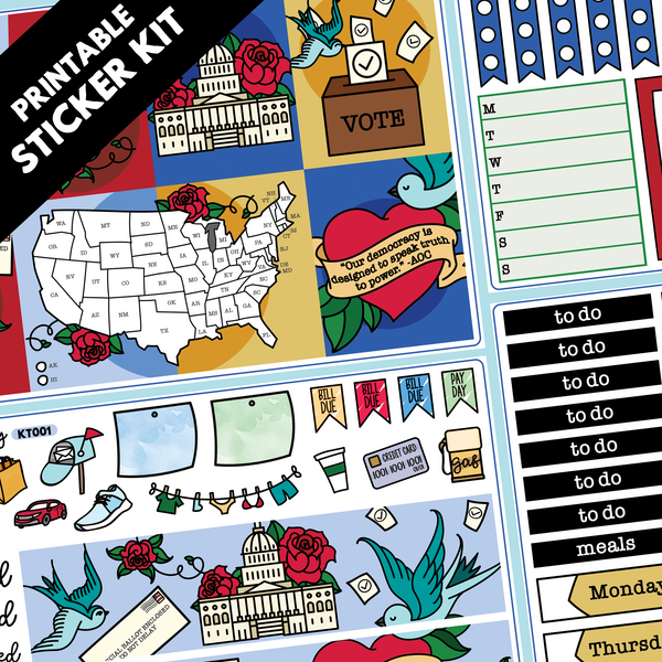 PRINTABLE U.S. Election Kit in Standard Vertical Sizing