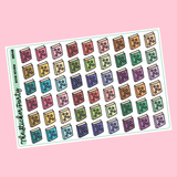 Book Review/Book Ratings Planner Stickers