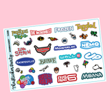 Modern Disney Movie Planner Stickers Disney Planner Stickers
