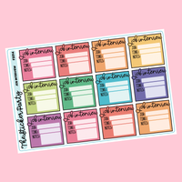 Job Interview Planner Stickers