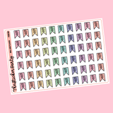 Bill Due Flag Planner Stickers | Bill Due Flags Stickers Money