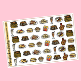 Decadent Breakfast Planner Stickers