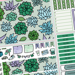 Succulent Weekly Vertical Kit for Erin Condren Life Planner