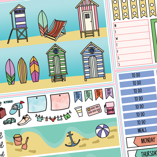 Beach Hut Kit for Erin Condren Vertical Life Planner
