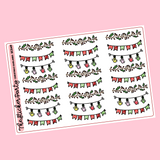 Christmas Garland Planner Stickers