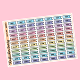 Test/Exam/Assignment Flags Planner Stickers