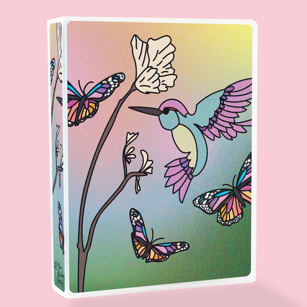 Hummingbird Sticker Album or Reusable Sticker Book