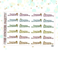 Happy Anniversary Planner Stickers | ERIN CONDREN