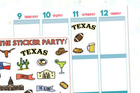 Texas Planner Stickers