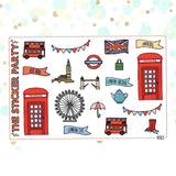 London Planner Stickers