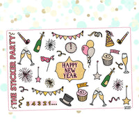New Year's Eve 2019 Planner Stickers