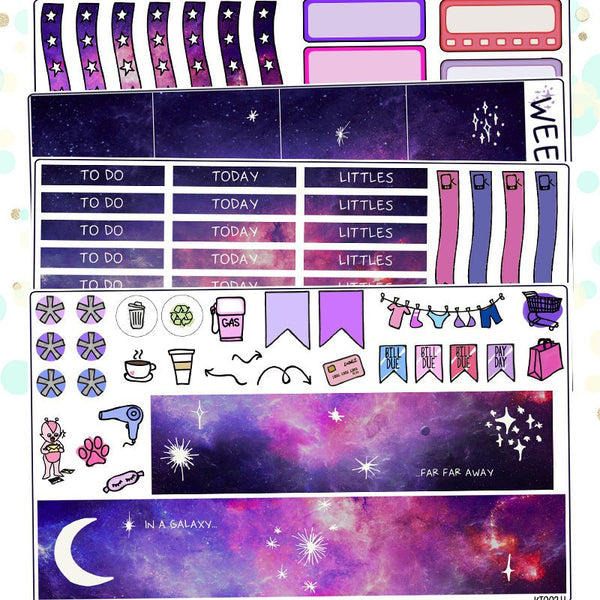 Galaxy Planner Sticker Kit for Erin Condren Vertical Life Planner