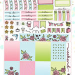 Roses Planner Sticker Kit for Erin Condren Vertical Life Planner