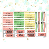 Tropical Planner Sticker Kit for Erin Condren Vertical Life Planner