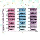 Watercolor Date Covers Planner Stickers