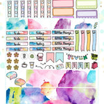 Watercolor Planner Sticker Kit for Erin Condren Vertical Life Planner