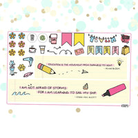 School Planner Sticker Kit for Erin Condren Vertical Life Planner