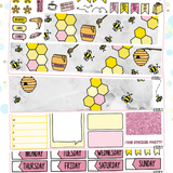 Bee Happy Sticker Kit for Erin Condren Vertical Life Planner