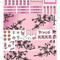 Cherry Blossoms Planner Sticker Kit for Erin Condren Vertical Life Planner