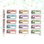 Reload Transit Pass Planner Stickers Bus Pass Train Pass Metro Pass