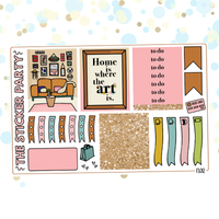 Home One-Page Kit Planner Stickers