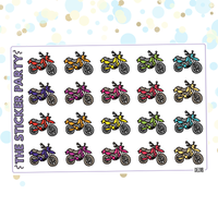 Motorcycle Planner Stickers