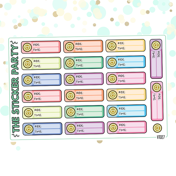 Disney World Fast Passes Planner Stickers