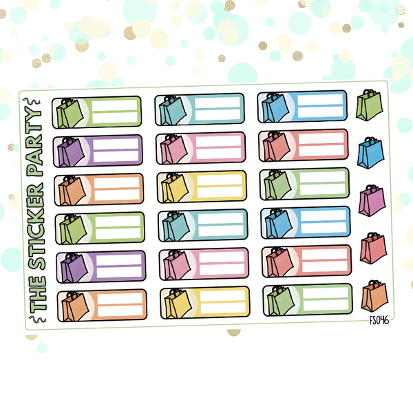 Shopping Trackers Planner Stickers