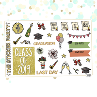 Graduation Planner Stickers | 2019 & 2020 Options