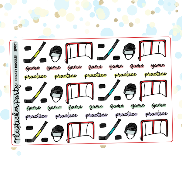Hockey Planner Stickers Hockey Practice Hockey Game