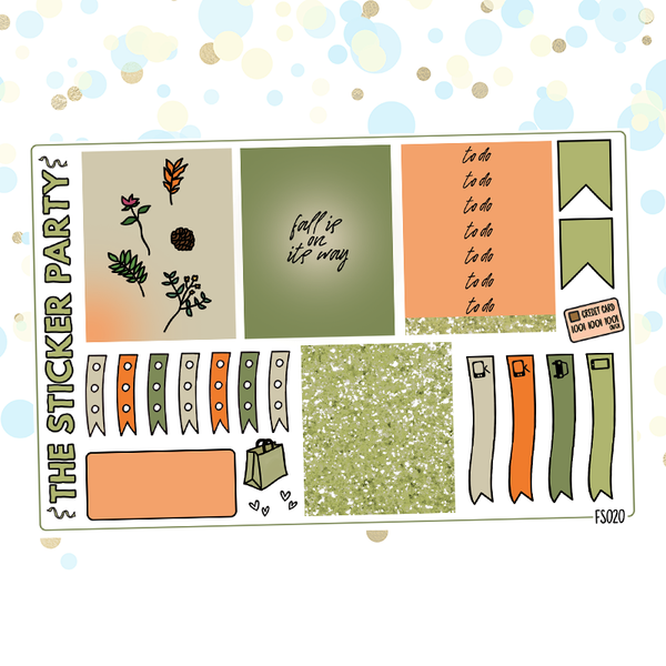 Fall Foliage One-Page Kit Planner Stickers