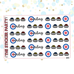 Curling Planner Stickers