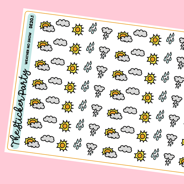 Mini Weather Planner Stickers