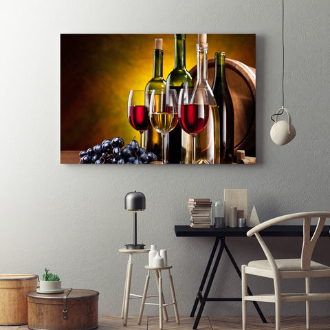 The Wine Lovers Canvas