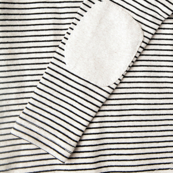Stripe Elbow Patch Long Sleeve