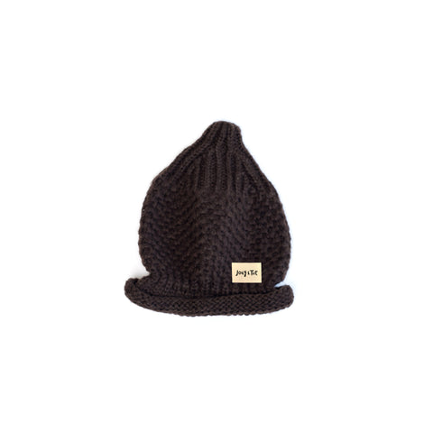 Brown Pointed Fisherman Beanie
