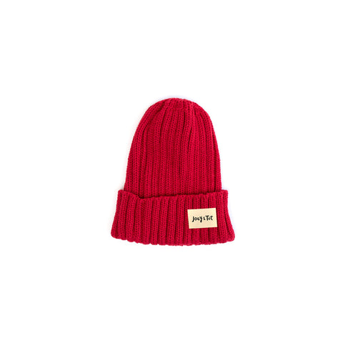 Red Knit Beanie