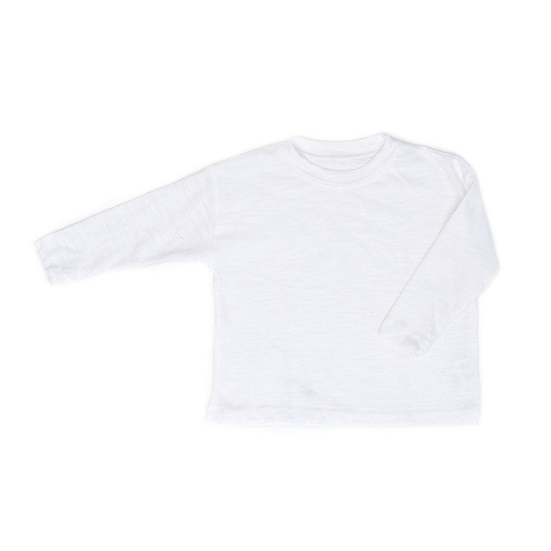White Slub Long Sleeve