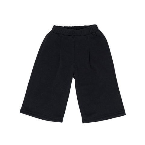 Black Pleated Cotton Pants