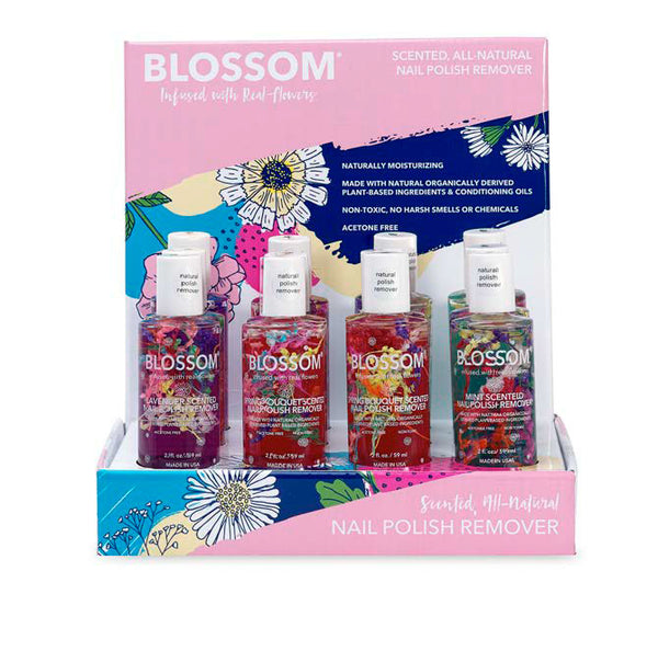 Blossom Nail Polish Remover 12 Piece Display