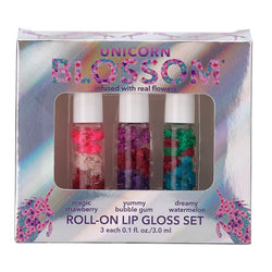 3 Piece Gift Set - Unicorn Mini Roll-On Lip Gloss