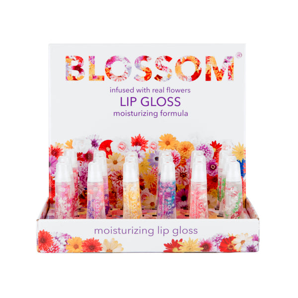 Blossom Moisturizing Lip Gloss 18 Piece Display