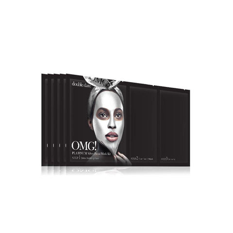 OMG! Platinum Silver Facial Mask Kit (5 Pack)