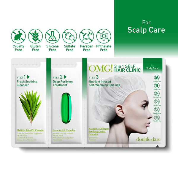 OMG! 3 in 1 Self Hair Clinic for Scalp Care